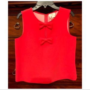 Kate Spade sleeveless bow top